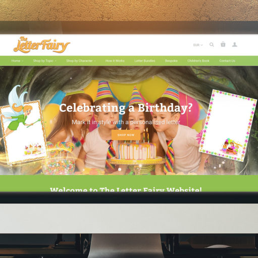 The Letter Fairy Website Showcase