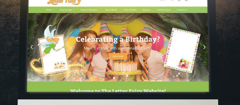 The Letter Fairy Website Showcase
