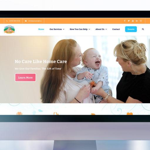 The Jack & Jill Children's Foundation website